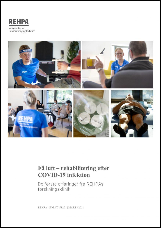 Forsidebillede af REHPA-notatet Få luft